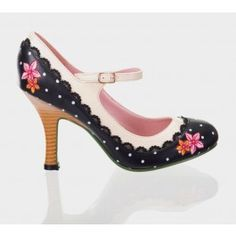 Chaussures Escarpins Pin-Up Rockabilly 50's Mary Jane Henley