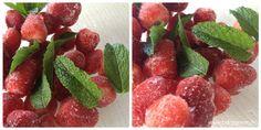 Gelato  500 g di frutti di bosco misti congelati 150 g di mirtilli freschi 3-4 cucchiai di miele liquido 500 g di yogurt naturale qualche foglia di menta fresca distribuire i mirtilli freschi in 4 bicchieri  inserire miele, yogurt e foglie di menta in un mixer e fare girare per qualche secondo aggiungere i frutti di bosco e frullare mettere il gelato sui frutti di bosco freschi e servire