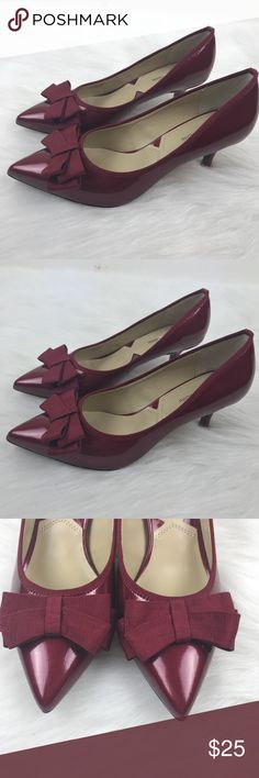 Adrienne Vittadini Red Leather Pointy Toe Heels 7 New without box.  More of a burnt red than a true red.  Please let me know if you have any questions. Adrienne Vittadini Shoes Heels