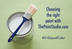 Choosing the right paint with thepaintstudio.com! #31daysofcolor @valsparpaint
