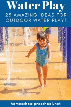 What can you do to entertain your kiddos on a hot summer afternoon? Try one or more of these ideas for an afternoon of outdoor water play for kids. Outdoor Activities For Kids, Outdoor Learning, Fun Crafts For Kids, Hands On Activities, Water Play For Kids, Summer Fun For Kids, Preschool Games, Preschool Ideas, Business For Kids