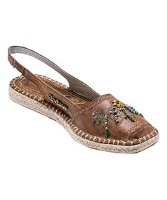 Chic embroidery and beaded embellishments lend a posh touch to these warm-weather lovelies.  Man-madeImported