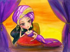Digital stamps digi stamp 1001 nights Scheherazade by JuliaSpiri