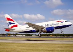 British Airways Airbus A318 which flies from JFK to London City Airport non-stop