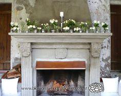 Auckland Wedding Flower Gallery 4: <br><strong>V021 - Mantells Mount Eden Wedding Venue Mentelpiece arrangement</strong>