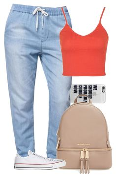 """✌✌✌"" by gxldenqueen ❤ liked on Polyvore featuring Casetify, Bullhead Denim Co., Topshop, MICHAEL Michael Kors and Converse"