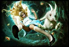 Alice an the White Rabbit. Shared from Facebook.