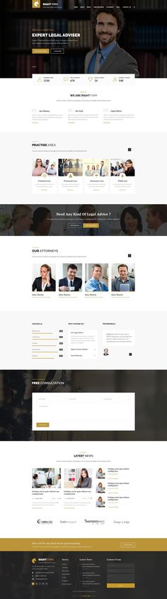 RIghtfirm is professional, modern crafted PSD template which can be used for #law, lawyer, #business and related to any legal company #website. Here you will get 19 layered #PSD with easily customizbale layer with pixel perfect design With 3 different Home version.