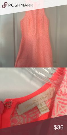 Fabulosity!!!!! Coral flora! My favorite silhouette! T shape back with a line hem Under skies Dresses Mini