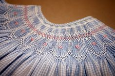 Creations By Michie` Blog: The Blue Gingham Bishop with free smocking design