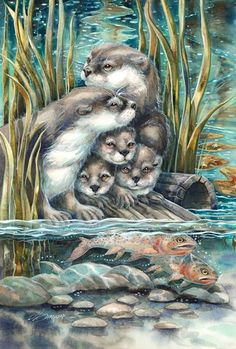 """So Happy we Have Each Otter"" par Jody Bergsma"