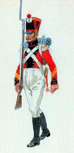 Senior Sergeant Grenadier Regiment 3 Swiss 1815 Fig. H Knotel.