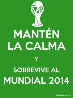 Mantén la calma y sobrevive al Mundial 2014