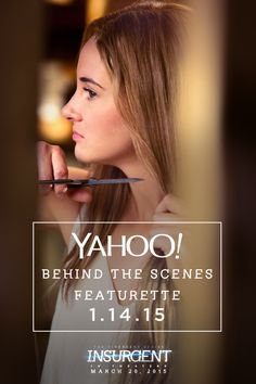 See an exclusive first look at Tris' transformation in Insurgent with a behind the scenes featurette on Yahoo this Wednesday!