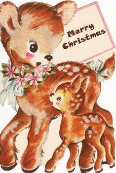 1940s The Deerest of Does Vintage Greetings by poshtottydesignz