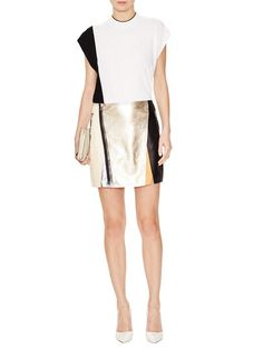 Colorblocked Leather Skirt by 3.1 Phillip Lim at Gilt