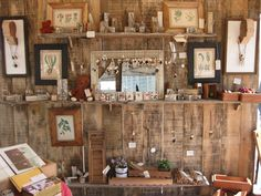 Clever and rustic craft booth display