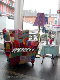 Sillon patchwork quilt furniture.  Crazy Quilt patchwork chair.
