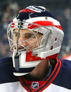 Photo galleries featuring the best action shots from NHL game action. Goalie Gear, Hockey Helmet, Goalie Mask, Football Helmets, Canada Hockey, Nhl Games, M Photos, Cool Masks, Mask Design