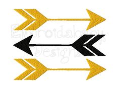 Arrows Machine Embroidery Design 4 Sizes by HoopMamaEmbroidery