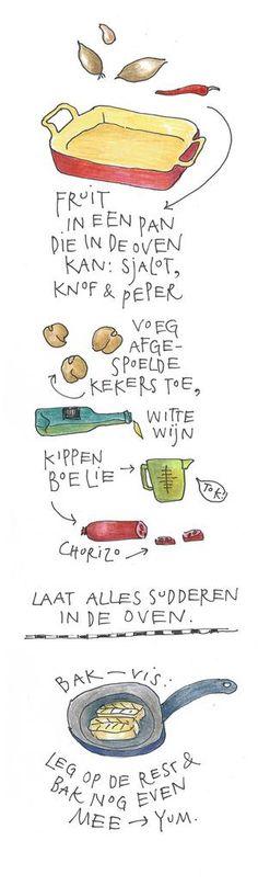 Vakantiemaaltijd om blij van te worden | kabeljauw en kekers van Yvette van Boven