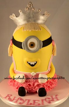 Minion Birthday Cake by A Sweet Temptation, Beecher, Queensland, Australia. You'll find this Cake Appreciation Society Member in our Directory at www.cakeappreciationsociety.com