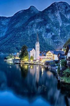 Travel Discover Beautiful Evenings in Hallstatt Austria Beautiful Places To Visit Wonderful Places Beautiful World Wallpaper Travel Places To Travel Places To See Travel Destinations Travel Usa Travel Tips Places Around The World, The Places Youll Go, Travel Around The World, Places To See, Around The Worlds, Dream Vacations, Vacation Spots, Dachstein Austria, Wonderful Places