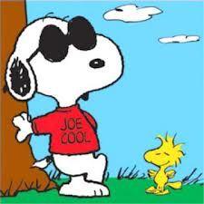 Snoopy & Woodstock in Joe Cool