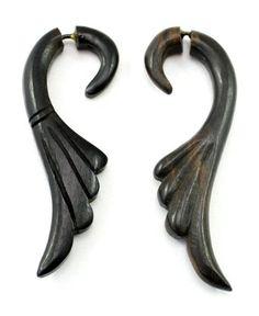 SKU NO:(sew_149) A Pair of Coconut Earrings Coco Wood Wooden Boho Hippie Earrings