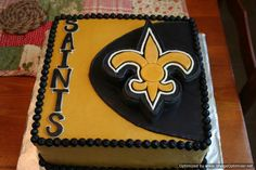 "Saints Cake!  Check out ""Cakes by Julie Brizzee"" on Facebook!"