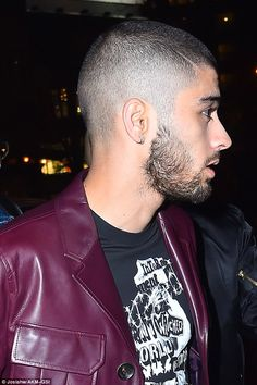 Ink free: It was recently confirmed that Zayn's 'MOM' face tattoo was a fake