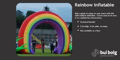 Giant Inflatable props from Bui Bolg Giant Inflatable, Community Events, Color Splash, Rainbow, Image, Rain Bow, Rainbows, Paint Splats