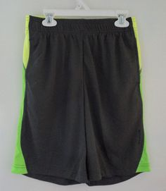 New PlayDry Gray Reebok Boy's Althetic Sports Gym Shorts Size Large 14/16…