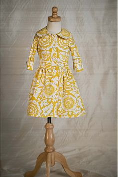 Yellow Floral Swiss Dress - Persnickety Clothing