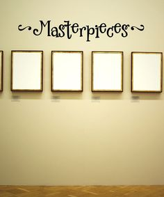 Black 'Masterpieces' Wall Quote