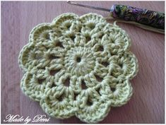 Made by Deni: Návody Crochet Doilies, Free Knitting, Crochet Projects, Coasters, Diy And Crafts, Applique, Projects To Try, Blanket, Placemat