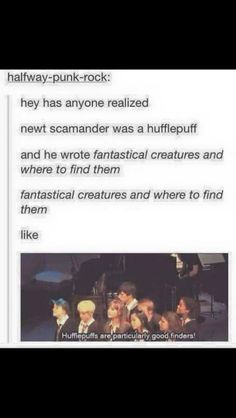Not super related but how did hufflepuff not win the quittich cup every year. Great finders not finding the snitch first makes no sense Harry Potter Jokes, Harry Potter Fandom, Harry Potter World, Hogwarts, Very Potter Musical, Avpm, Yer A Wizard Harry, Fantastic Beasts And Where, Harry Potter Universal