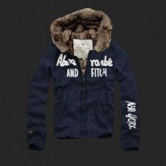 Abercrombie Mens Fur Hoody Coat 013