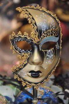 Noir Vénitien Dentelle Masque en métalMasquerade demi-visage clair strass robe fantaisie