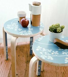 Via Do it from Mother Earth Living - wallpaper chair fix