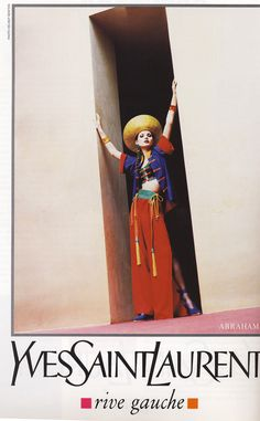 1993 - Yves Saint Laurent adv - Kate Moss,  by Helmut Newton.