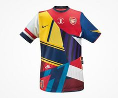 Commemorative shirt by Nike celebrating 20 years with Arsenal. (Not an Arsenal fan). Nike Football Kits, Soccer Kits, Football Design, Arsenal Football, Football Pitch, Arsenal Kit, Arsenal Jersey, Arsenal Players, Manchester United