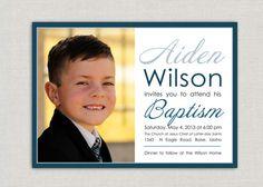 LDS Baptism Invitation - Aiden