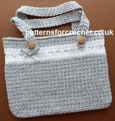 Free crochet pattern for everyday bag http://www.patternsforcrochet.co.uk/everyday-bag-usa.html #patternsforcrochet