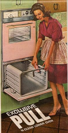 Always be sure your high heels match the oven! 1963 Wall oven from frigidaire Retro Ads, Vintage Advertisements, Vintage Ads, Vintage Decor, Retro Advertising, Vintage Pink, Vintage Appliances, Vintage Kitchenware, Retro Pink Kitchens