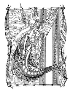 Si Lam-ang at ang Berkakan Lam-ang and the Berkakan Pen & Ink In the Ilokano epic of Lam-ang, there is a part where the hero, Lam-ang, is swallowed . Si Lam-ang at ang Berkakan Painting & Drawing, Mythology, Epic Heroes, Whale, Things To Think About, Deviantart, Drawings, Philippines, Bones
