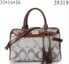 FREE SHIPPING Coach Signature Carryall Handbag Coach Purse Grey | EmeseBoutique - Bags & Purses on ArtFire