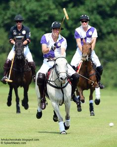 William and Harry playing polo over the weekend.