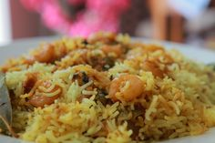 Prawn Biryani - Shrimp Biryani in simple and easy steps at home Prawn, Shrimp, Green Chilli, Biryani, Rice Dishes, Paella, Indian Food Recipes, Food Videos, Roast