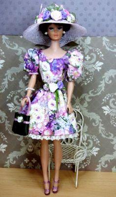 OOAK-Barbie-FR-Silkstone-Integrity-Mod-Vintage-Fashion-Doll-PICTURE-ME-PURPLE